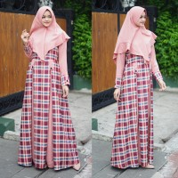 Baju Gamis Wanita Katun Kotak GROSIR TANAH ABANG ALF03211