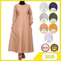 Dress Muslim Gamis Wanita Dress Polos Katun Baloteli