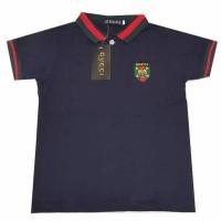 Import Kaos Shirt Anak Gucci Logo/Kaos Kerah Anak Laki
