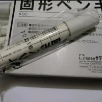 solid steel marker white sakura - spidol penanda besi permanen putih