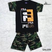 Setelan Baju Celana Branded Anak Cowok Laki Murah 2 3 4 Thn SAL019