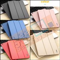 iPad Mini 1/2/3 Luxury KAKUSIGA Carbon 3 Fold Smart Flip Cover / Case - GOLD