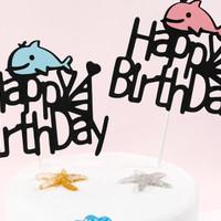 cake topped / dolphin / baby fish / hiasan kue ulang tahun