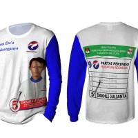 T-Shirt Kaos Printing Lengan Panjang Pria PERINDO 3D FullPrint
