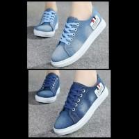 Sepatu Kets Jeans Pria Wanita Sepatu Sneaker Fashion Korea Cewek Cowok