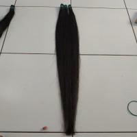 rambut extension 60cm isi 60helai agak tebel asli human hair