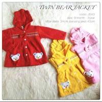 3pc satuan 33.5 jaket bayi jaket anak TWIN BEAR babeebabyshop