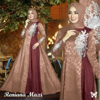 Gamis / Baju / Maxi Pesta Wanita Muslim Reniana Syari Good Quality