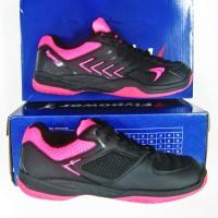 Sepatu Badminton Bulutangkis FLYPOWER PAWON 4 Black Pink Sapatu Ori
