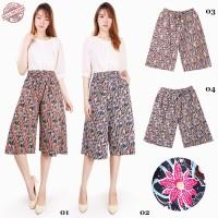 Disya Celana Kulot Batik Pendek 7per8 Fit to XXL