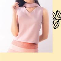 Baju Atasan Wanita Halter Polos Vneck Bolong IMPORT READY STOCK