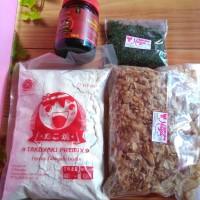 Bahan takoyaki okonomiyaki murah halal saos tepung katsuobushi aonori