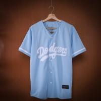 BAJU BASEBALL Original LA Dodgers Baby Blue untuk Pria & Wanita