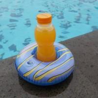 Cup holder float donat biru / ban gelas / pelampung gelas