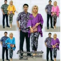 Sale - Setelan Baju Kemeja & Kebaya Batik Couple Rabbani Set Termurah