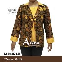 Blouse Batik/ Atasan Batik/ Kemeja Wanita Batik Pekalongan Murah 2