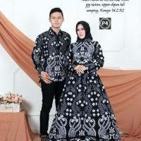 baju couple batik gamis rumput baju batik sarimbit muslimah