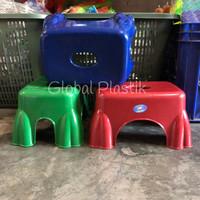 Bangku Kursi Jongkok Plastik Warna Kotak - Bee Plast