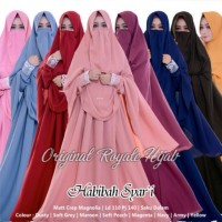 Baju Gamis Wanita Terbaru Polos Habibah Syari Ori Royale Plus Cadar