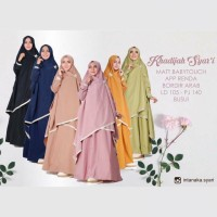 Baju Gamis Wanita Terbaru Jumbo Khadijah Syari Ori Intanaka Khimar