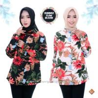 Baju Atasan Wanita Kemeja Blouse Laudya Motif Bunga Monalisa