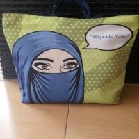 tas wanita lucu dan unik bahan kanvas poly custom untuk souvenir,dll