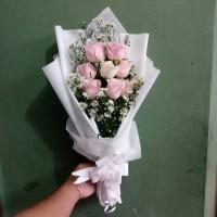 bunga bouquet mawar asli bucket kado ulang tahun florist buket bunga