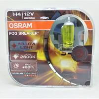 Osram H4 Fog Breaker (FBR) 60/55W Lampu Mobil Warna Kuning Pekat Gold