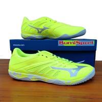 Sepatu Futsal Mizuno Basara 103 Sala Lime Green/Grey Original