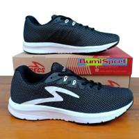 Sepatu Running Specs Boston Road 19 Black/White Original