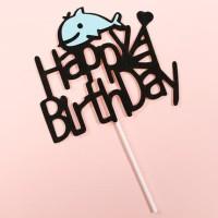 cake topper / dolphin / baby fish / hiasan kue ulang tahun