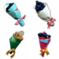 Bouquet Bunga Hijab Flower Bouquet Jilbab Buket Baket Kerudung Kado Un