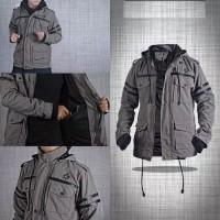 Jaket parka hoodie finger korean style semi kulit abu axleboard