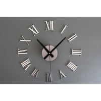Jam Dinding DIY Giant Wall Clock 30-60cm Diameter ELET00662 - Silver