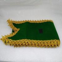 selempang wisuda bordir komputer asli list renda warna hijau terbaru