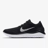 Sepatu Lari Nike Wmns Free RN Flyknit 2018 Black Original 942839-001