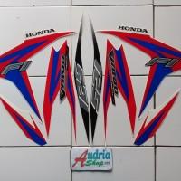 Striping Stiker Motor Honda Vario Techno 125 FI 2012 Merah-Biru