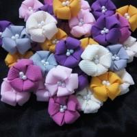 Aplikasi Bunga Menul 4,5 cm Kepala Bros Juntai / Bros Dagu Bahan Craft