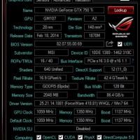 TERLENGKAP MSI GeForce GTX 750 Ti 2GB OC HEMAT