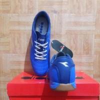 Sepatu Futsal Diadora 6Play ID Original - Blue - Sepakbola - B12sb1470