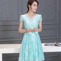 Dress Korea Baju Party Kerja Office Chongsam 3 - Green, L