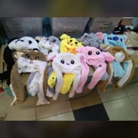READY Bunny Hat Pokemon Pikachu Panda Rabbit Anjing Tikus Gajah STITCH