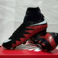 sepatu bola dewasa nike hypervenom high red black