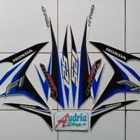 Striping Stiker Motor Honda Vario Techno Cw FI 125 2014 Putih-Biru