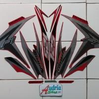 Striping Stiker Motor Honda Vario Techno 125 FI 2013 Merah