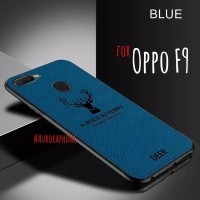 Oppo F9 Soft Case DEER Cloth Silicone Protective Back Cover