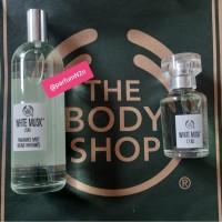 paket parfum body shop leau body mist 100ml +edt 30ml