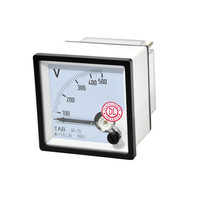 Voltmeter / Volt Meter Analog 72x72 500V AC TAB - Kualitas Terjamin