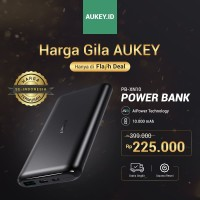 PERTAMA DI INDONESIA AUKEY Powerbank 10 000 mAh Slim Elegant Design