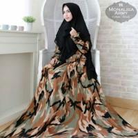 Baju Gamis Wanita Syari Loreng Jumbo Monalisa Terbaru